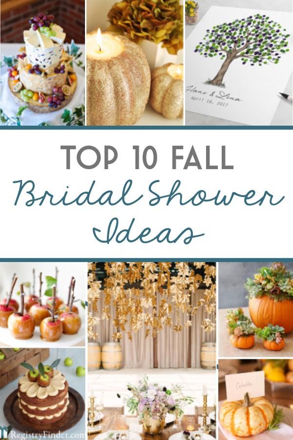 Top 10 Fall Bridal Shower Ideas