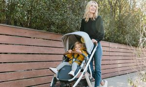 Stroller with non-toxic fabric
