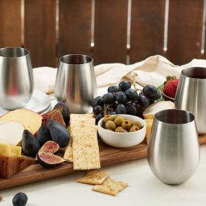 Wedding Registry Items That Will Excite Your Groom   Stainless Steel Wine Tumblers