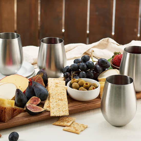 Wedding Registry Items That Will Excite Your Groom | Stainless Steel Wine Tumblers