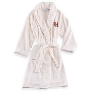 Wamsutta Personalized Plush Initial Robe | Spa Bathroom Tips