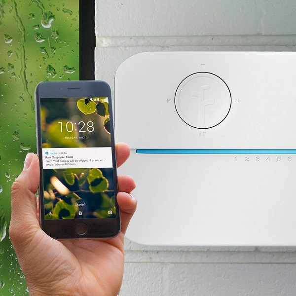Top Smart Home Items For Your Wedding Registry | Rachio Smart Lawn Sprinkler Controller