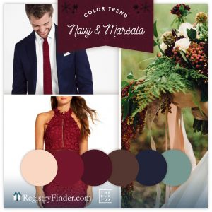 Navy and Marsala Wedding Colors