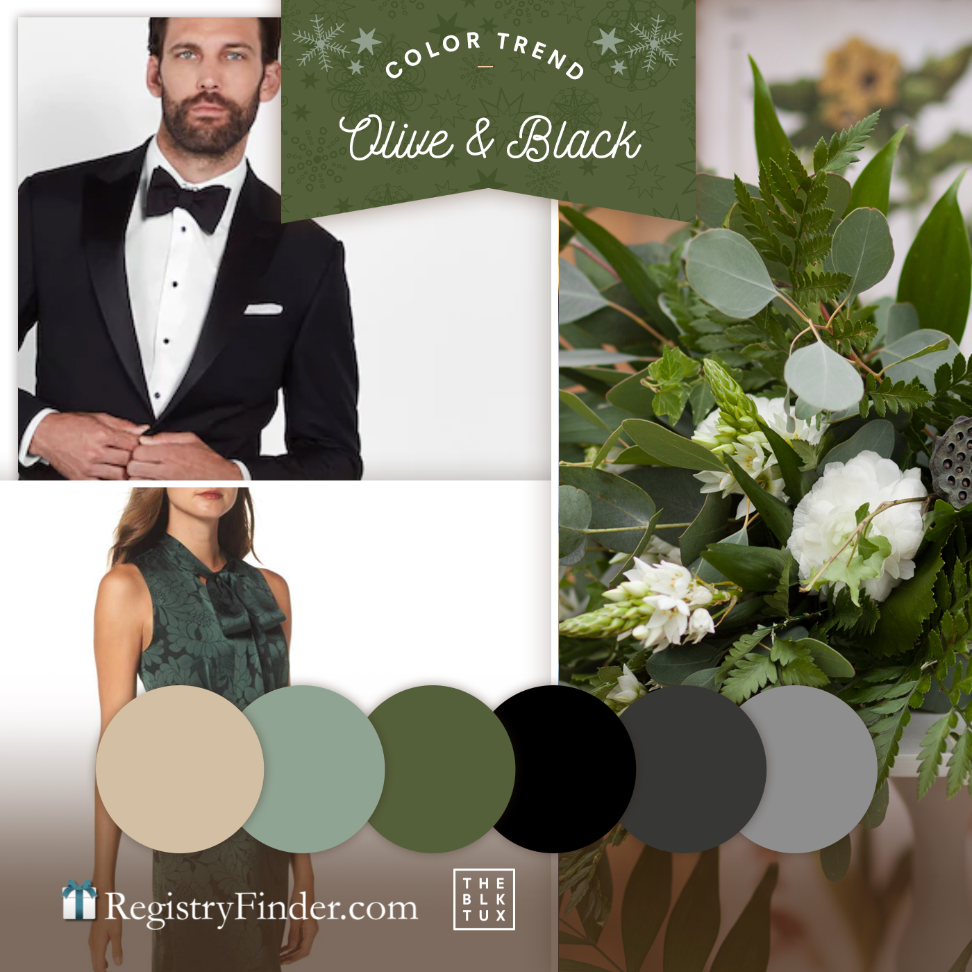 Olive and Black Wedding Colors