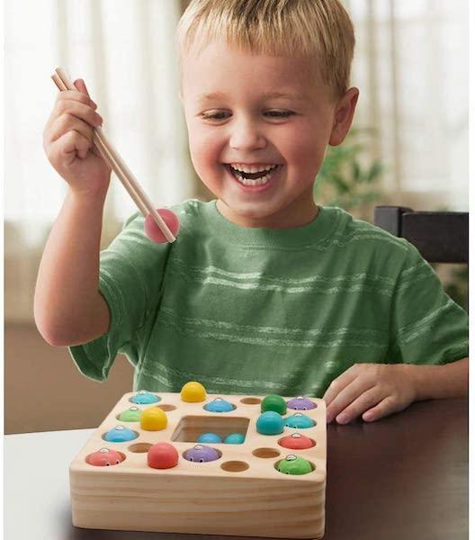 Montessori Toys Wooden Fishing Game