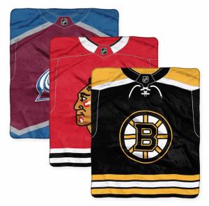 NHL Super-Plush Raschel Throw Blanket