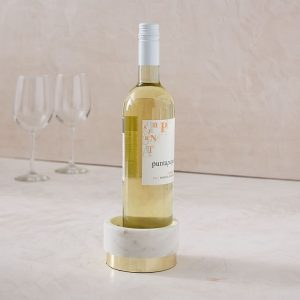 The Best Hostess Gifts | Wine Coaster and Wine