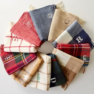 Christmas Presents for Newlyweds | Monogrammed Throw Blanket