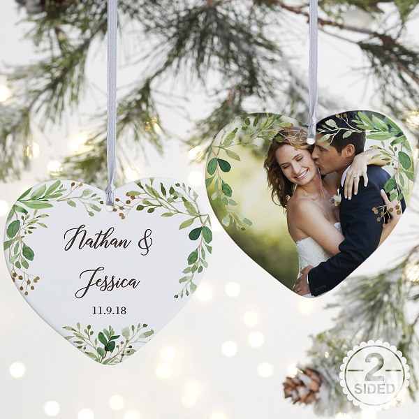 Holiday Gifts for Newlyweds | Personalized Photo Ornament