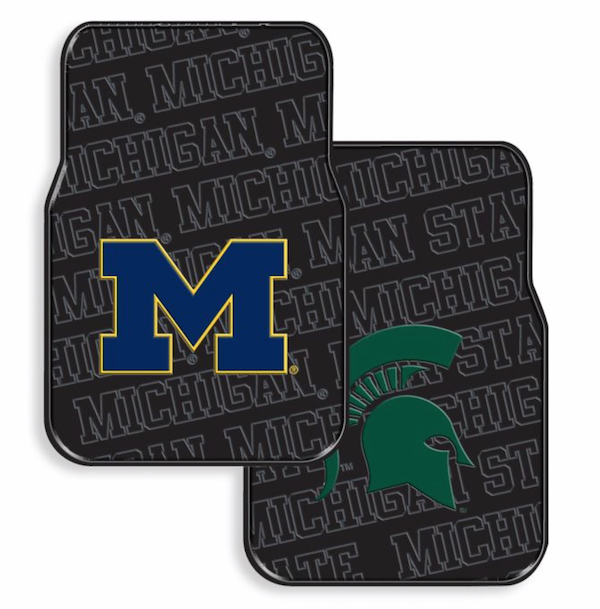 NCAA Rubber Car Floor Mats (Set of 2)