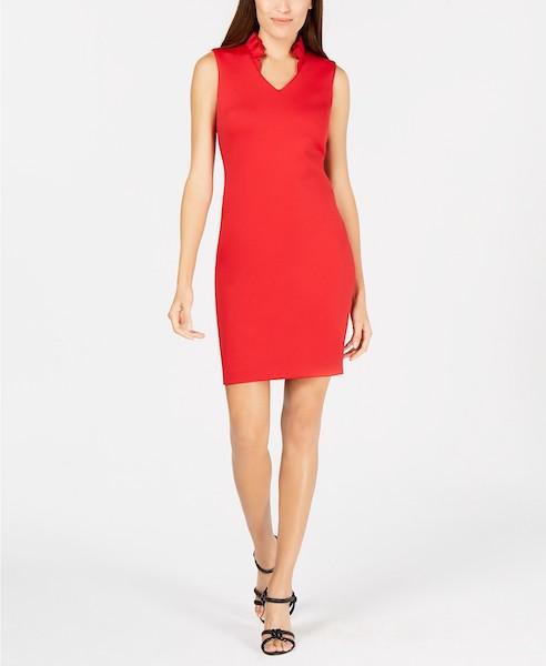 Calvin Klein Petite Ruffled Sheath Dress