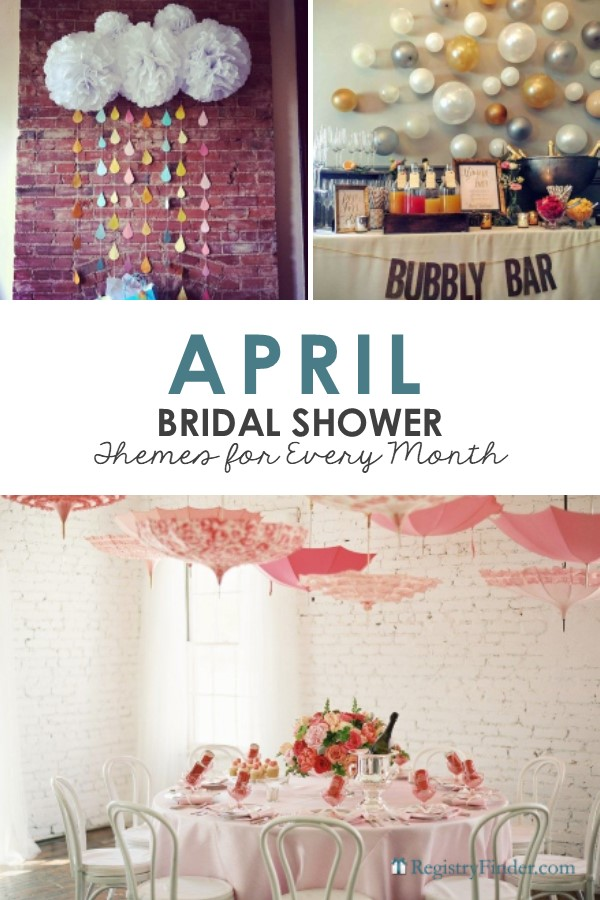 April Bridal Shower Themes by RegistryFinder.com