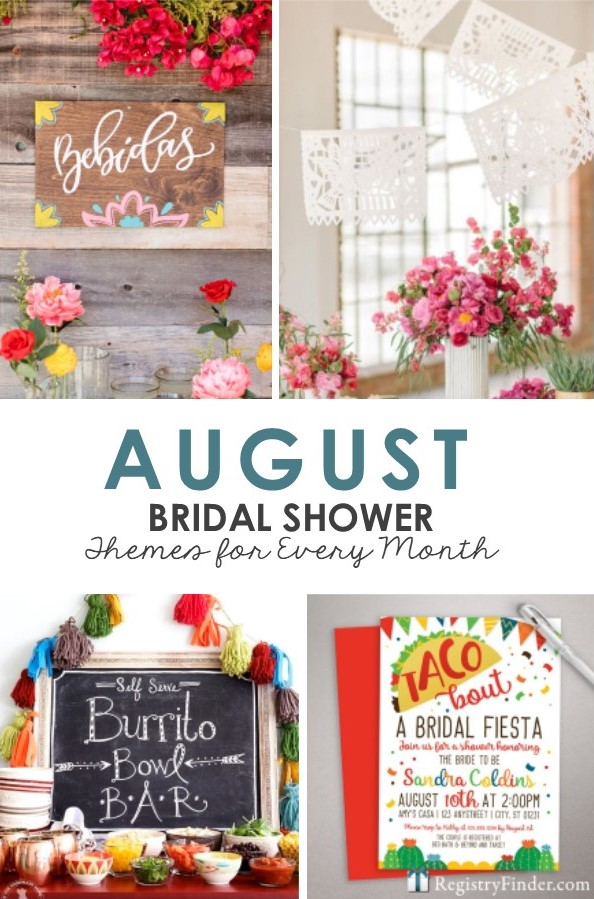 August Bridal Shower Themes by RegistryFinder.com