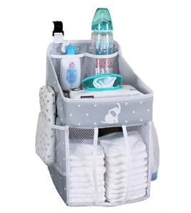 Designing A Small Space Nursery | Baby Crib Diaper Caddy Organizer
