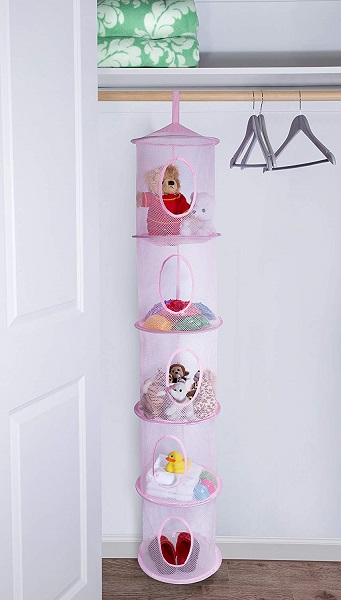 Designing A Small Space Nursery   Hanging Organizer