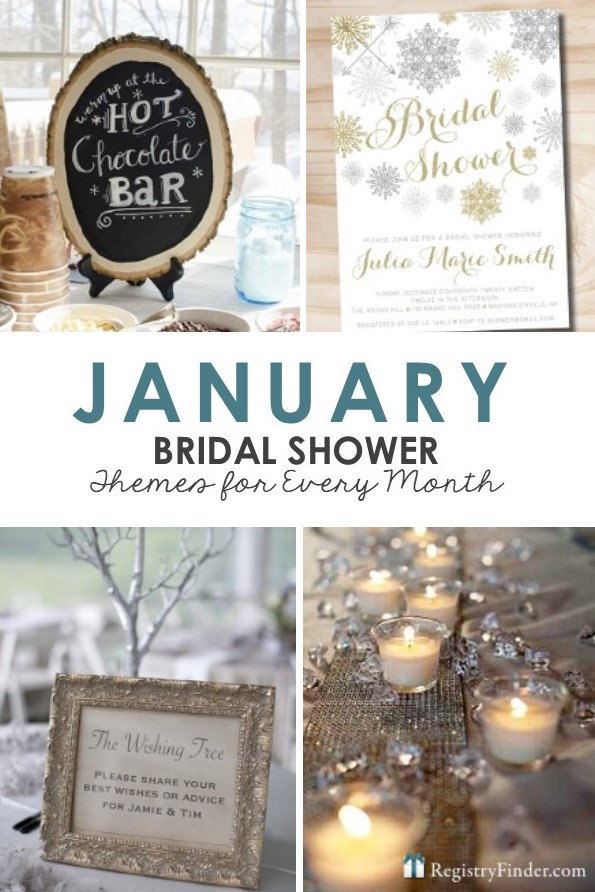 January Bridal Shower Themes Presented by RegistryFinder.com