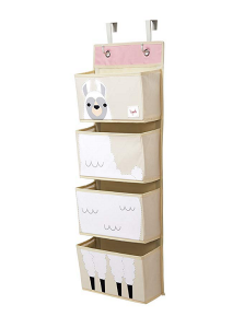 Designing A Small Space Nursery | Hanging Organizer Storage