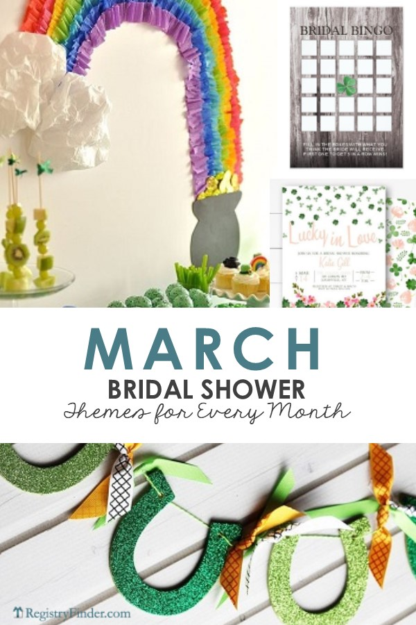 March Bridal Shower Themes Presented by RegistryFinder.com