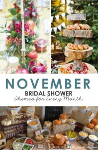 November Bridal Shower Ideas by RegistryFinder.com