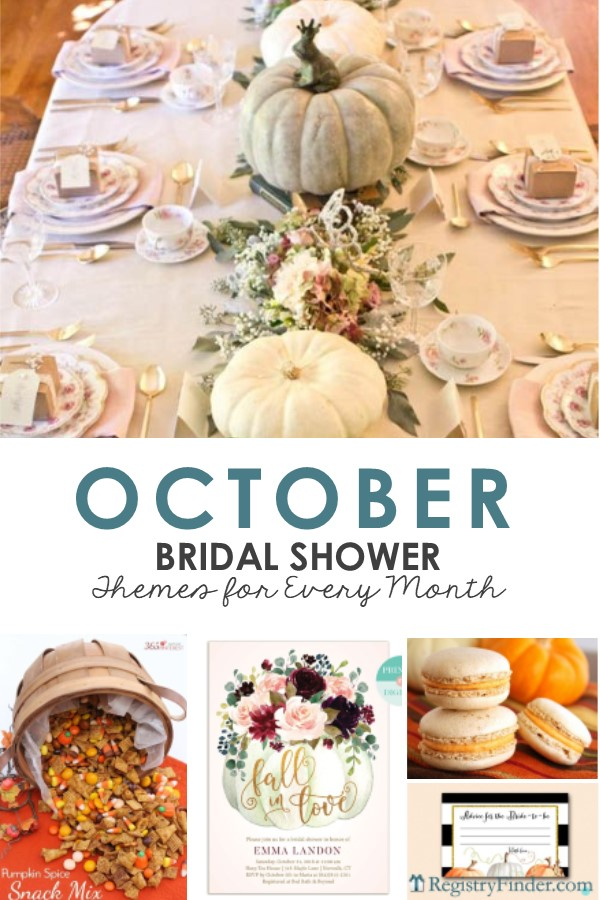 October Bridal Shower Ideas by RegistryFinder.com
