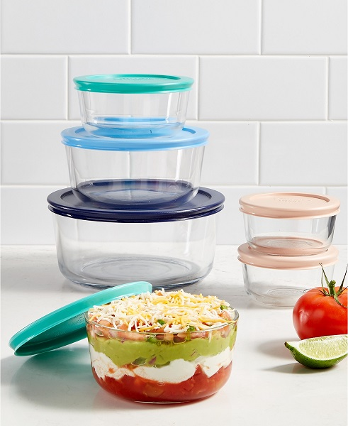 A glass food storage set is always a nice upgrade from plastic, and the material makes it the most convenient for cooking, cleaning and storage all in one place.