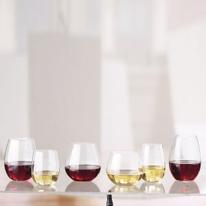 Stemless wine glasses make a great wedding gift for a second marriage.