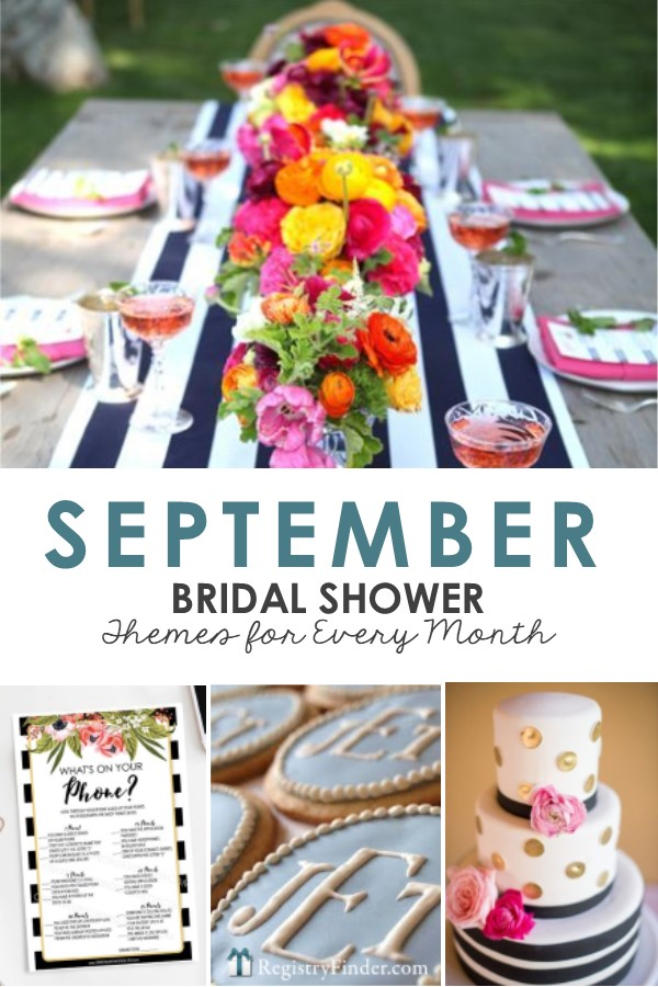 September Bridal Shower Theme Ideas by RegistryFinder.com