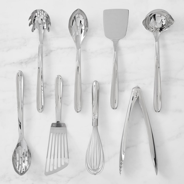 Cover every step from whisking to serving with a stainless steel utensil set for a couple on their second marriage.