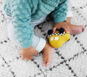 Designing A Small Space Nursery | Textured Diamonds Rug