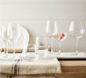 Pottery Barn Schott Zwiesel Classico Stemless Wine Glasses