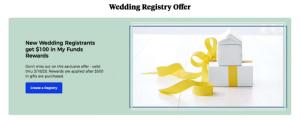 wedding registry offer