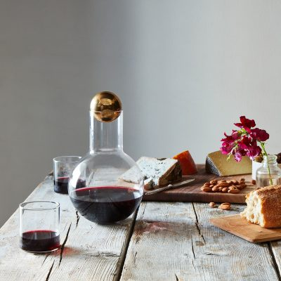 A stylish decanter makes any bottle of wine taste that much more luxurious.