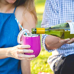 Transporting your favorite libations has never been easier with a lidded wine glass tumbler. Wedding Gifts For A Second Marriage | Lidded Wine Glass Tumbler