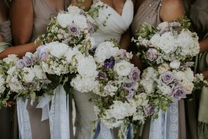 bridesmaids bouquets with purple roses | how to handle disappointing bridesmaids