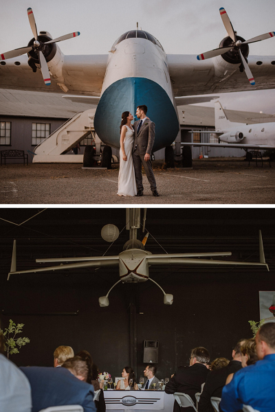 Airplane Hanger or Museum wedding Venues