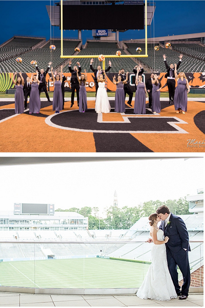 Wedding at a UNC Chapel Hill Stadium