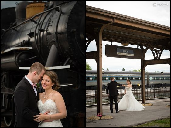 Wedding at Utica Train Station