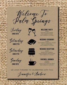 Include event details in wedding guest gift bag
