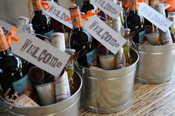 Wedding Welcome Bags | Wine