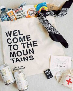 Wedding Guest Week Welcome Bag | Welcome to the Mountains