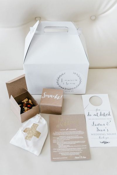 Wedding Week Welcome Bags | The Details
