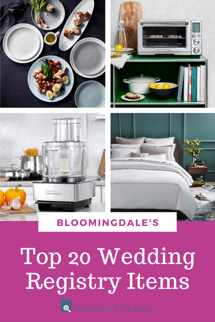 Bloomingdales Wedding Registry.Bloomingdale S Top 20 Most Popular Wedding Registry Items