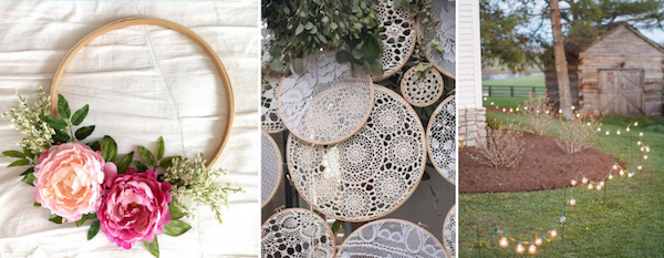 For couples getting married at home, it's all about embracing the elements and tying them in to the decor as a whole.