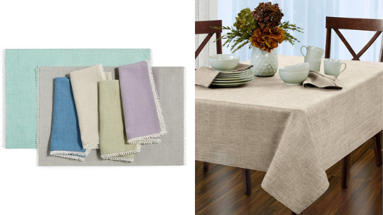 register for table linens