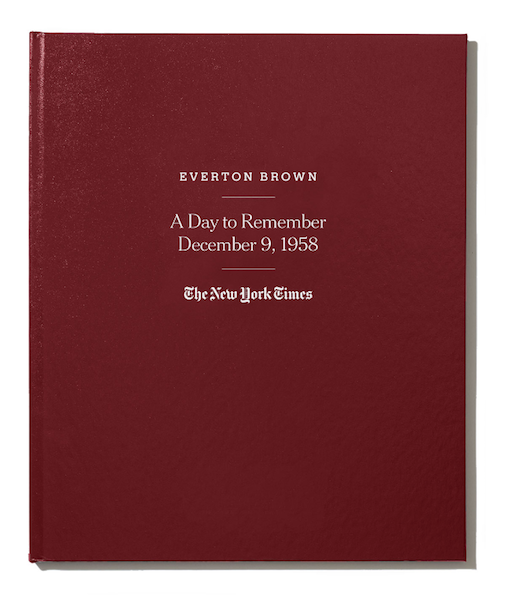 There's no shortage of paper anniversary gifts, including this journalistic approach that commemorates your special day with The New York Times.