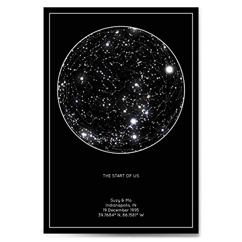 Celebrating Each Other: 1, 5, and 10-Year Anniversary Gifts For Your Spouse | Custom Night Sky Print