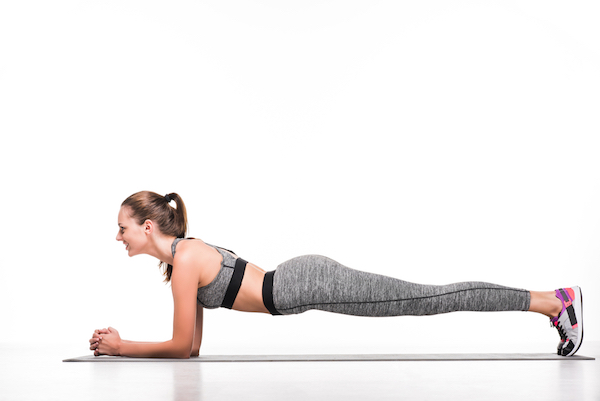 wedding workout - plank with side-to-side dips