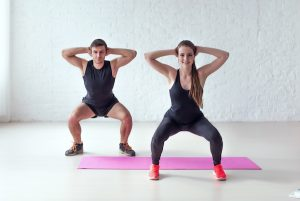 at home wedding workout - squats