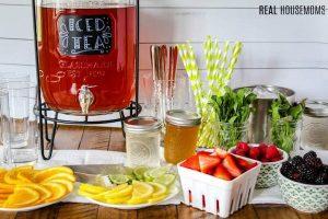 Ice tea bar for graduation party
