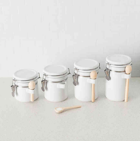 Spring Cleaning: Top Products for Getting (and Staying) Organized | 4-Piece Canister Set